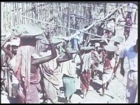 Hirakud dam construction, 1958 from India, Matri Bhumi by Roberto Rossellini