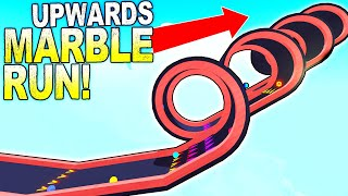 I Built an Upwards Marble Run with the New Boost Pad Update! - Marble World Gameplay