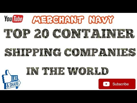 TOP 20 CONTAINER SHIPPING COMPANIES IN THE WORLD||Merchant Navy||