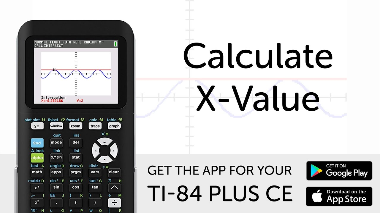 Calculate X Value Manual For Ti 84 Plus Ce Graphing Calculator