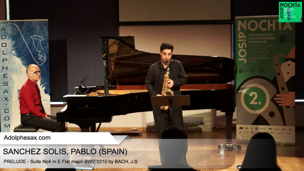 Johann Sebastian Bach – Suite No 4 in E  at major BWV 1010 – Pre?lude – SANCHEZ SOLIS, Pablo (Spain)