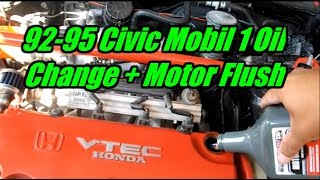 1994 honda civic ex 1 6l mobil 1 oil change tutorial motor flush