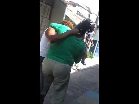 Jamaica females fight cement wall MUST SEE!