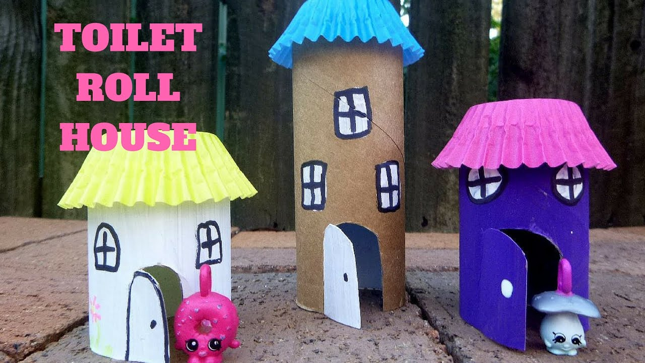 How to make a toilet paper roll house toilet paper roll crafts how to make a toilet paper roll house toilet paper roll crafts youtube jeuxipadfo Choice Image