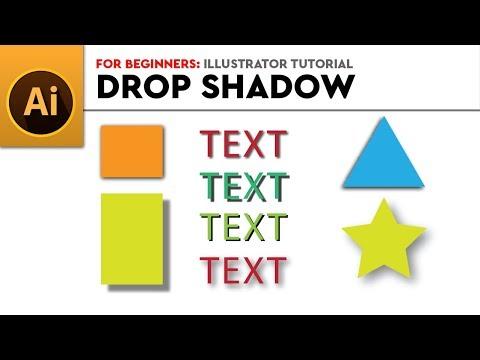 For Beginners | Drop Shadow | Illustrator Tutorial thumbnail