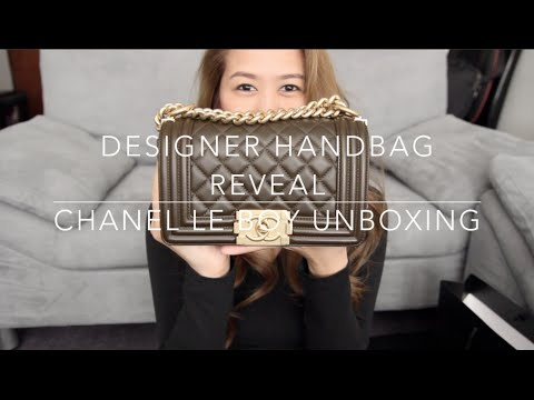 7478271d DESIGNER HANDBAG REVEAL: Chanel Small Le Boy Unboxing! | Pinay ...