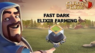 Clash of clans -how to get dark elixir fast and easy For Th 9-