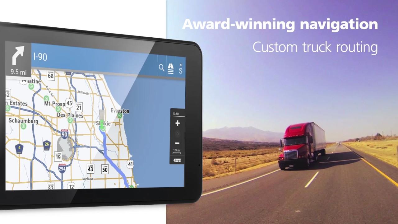Rand McNally GPS TND 740 truck navigator - Intelliroute trucker
