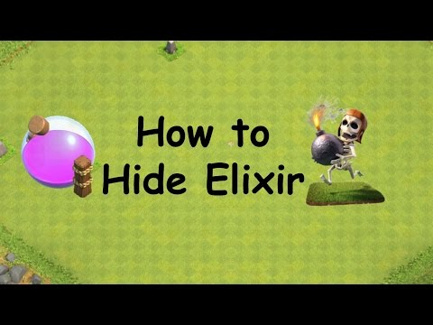 Clash of Clans - Gameplay Tips - How to Hide Elixir