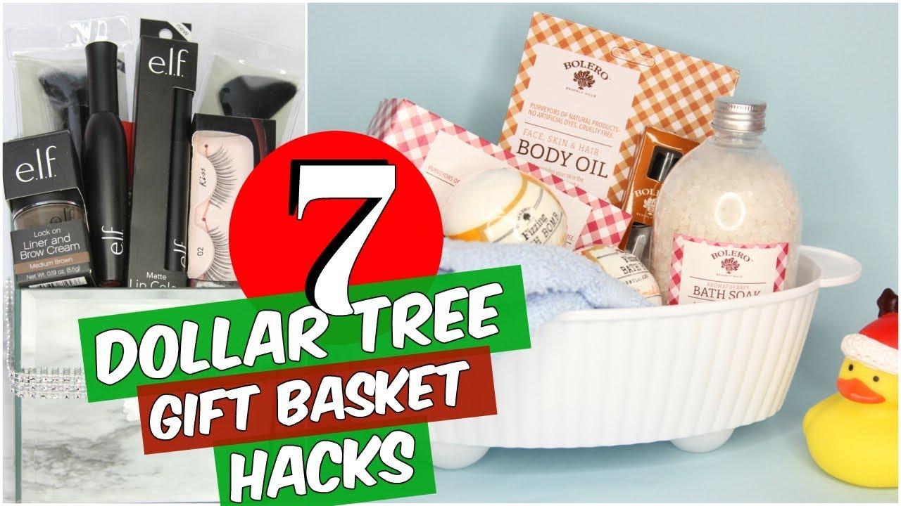 7 Dollar Tree Christmas Gift Basket Diy Hacks Youtube