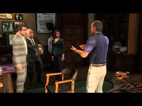 "Grand Theft Auto V - Legal Trouble: Devin Weston ""Plug is Pulled"" Solomon Richards Cutscene PS3"