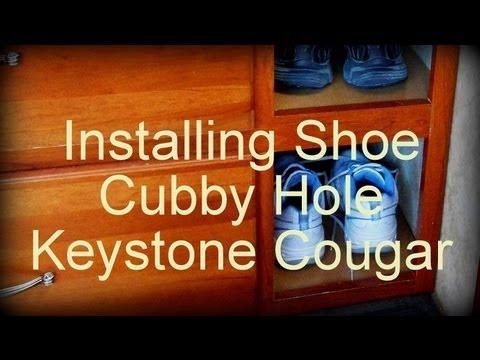 Keystone Cougar 267RLSWE Shoe Cubby Hole Modification