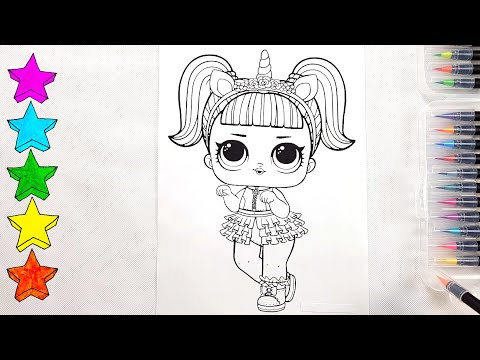 LOL Surprise Dolls | Coloring LOL Doll Unicorn | Coloring Pages for Kids