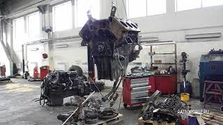 TIRKAMA: ichki yonish dvigatellari Ta'mirlash ОМ501 - Mercedes Actros - Disassembly mexanizmi / Tashxis