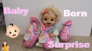 Baby Alive Emma opens Baby Born Surprise Dolls!   Kelli Maple