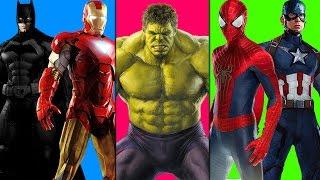 Hulk Finger Family Cartoons | Superhero Finger Family Rhymes For Children | Spiderman Rhymes
