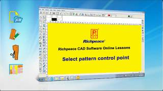 Richpeace garment CAD software online lessons-Tip of the day-Select pattern control point (V9)