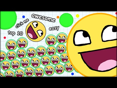 HOW TO GET TO TOP 10 IN 10 SECONDS! AGARIO AWESOME EDITION (THE MOST ADDICTIVE GAME - AGARIO #11)