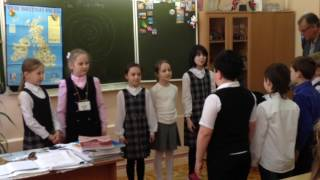Visit to a school in <b>Russia</b>