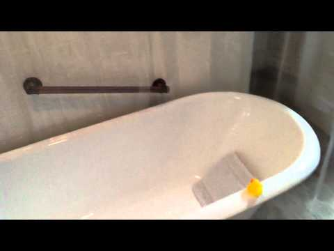 Bathroom Remodel with claw foot tub in 3 Days!