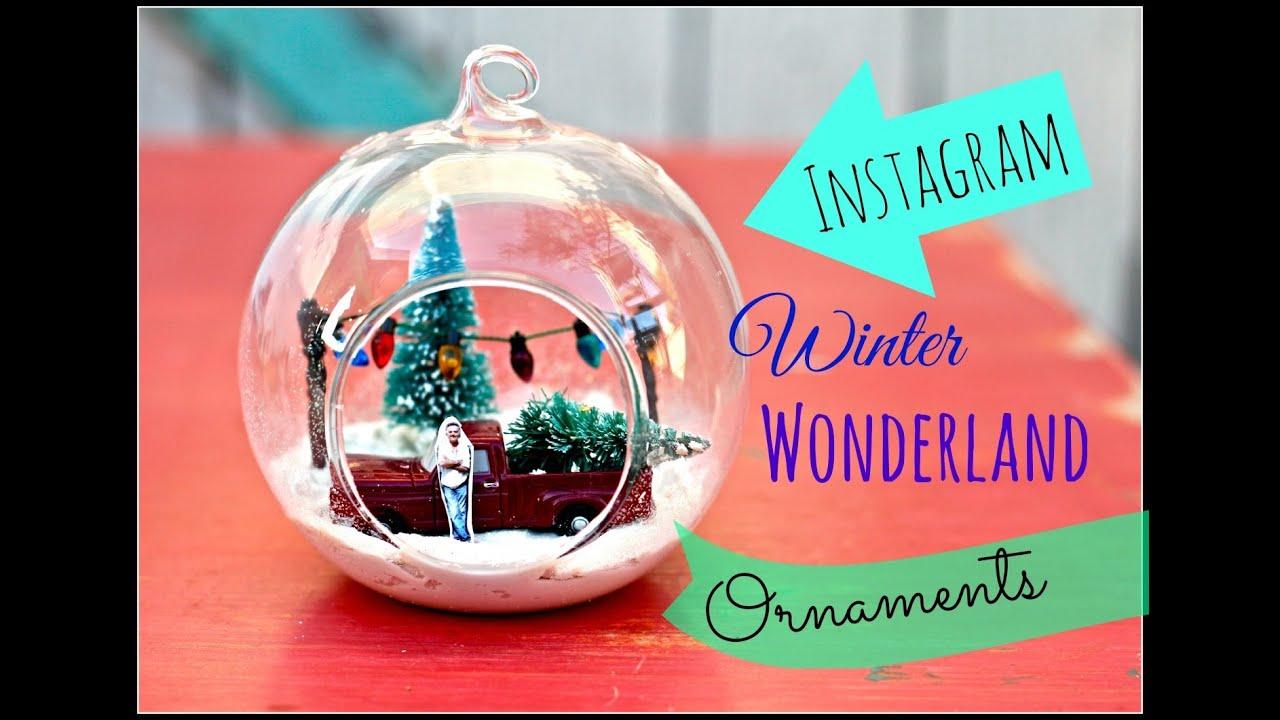 diy snow globe photo ornaments use instagram pics youtube