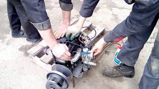 видео Двигатель для снегохода