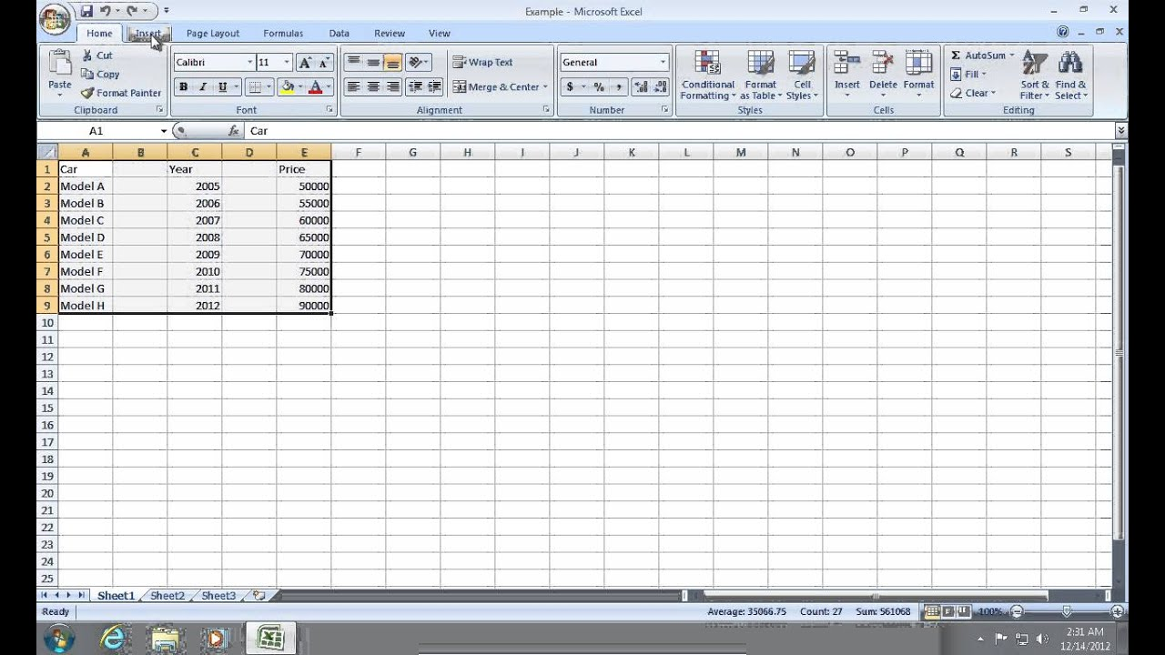 How to Create Excel 2007 Chart with 2 Y axis or X axis ...