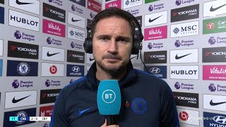 'My trust in youth has been repaid!' Frank Lampard on Chelsea 2-0 Palace