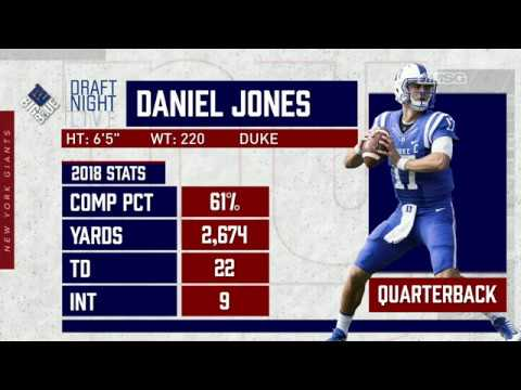 Instant Reaction to Giants' Selection of Duke QB Daniel Jones | New York Giants | MSG Networks