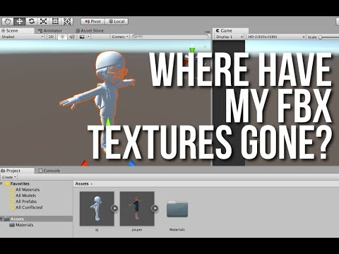 FBX Importing to Unity 2017/2018+ | Where did my textures go?