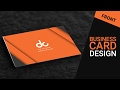 Business card design in photoshop cs6 | Front | Orange | Gray