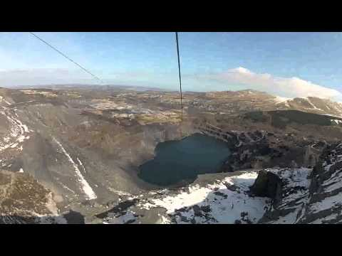 The northern hemisphere's longest zip wire in North Wales