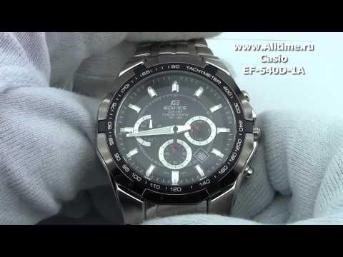 c0321795b Мужские японские наручные часы Casio Edifice EF-540D-1A - YouTube