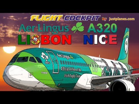 """In the Cockpit of AER LINGUS Airbus A320 """"Green Spirit"""""""