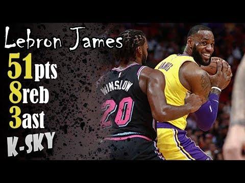 Lebron James 51pts Vs Miami Heat