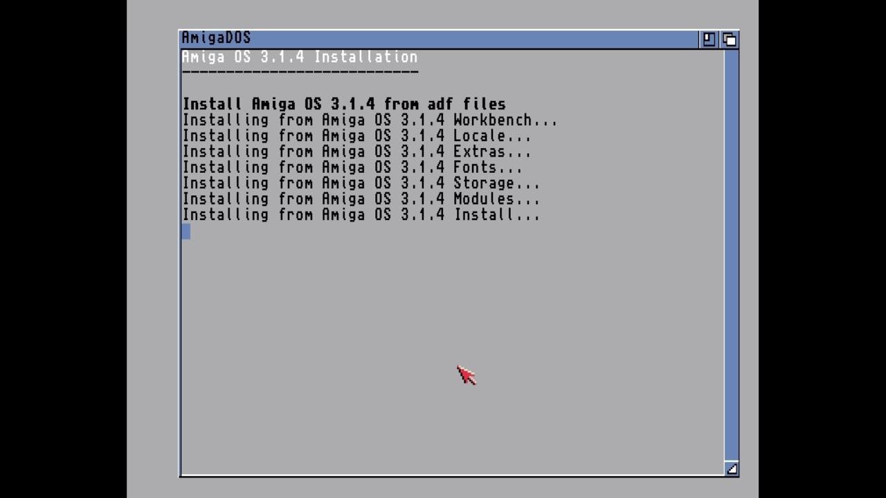 HstWB Installer initial support for Amiga OS v3 1 4