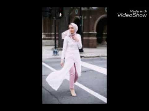 a09500695ad8f احدث صيحات الموضة للمحجبات موضة 2018  للعيد - YouTube