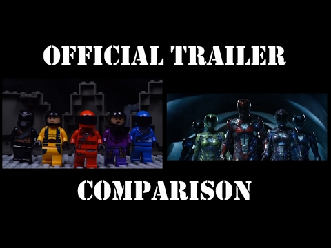 POWER RANGERS 2017 Official Trailer IN LEGO (Side by Side) Comparison