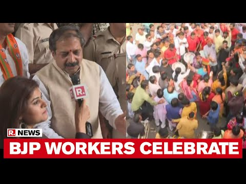 Republic TV Reports From Bhopal As BJP Workers Celebrate At Office After Kamal Nath Resigns