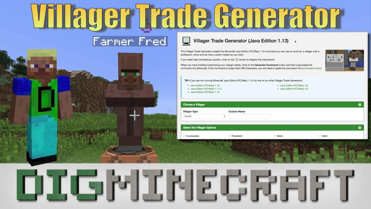 Villager Trade Generator (Java Edition 1 14)