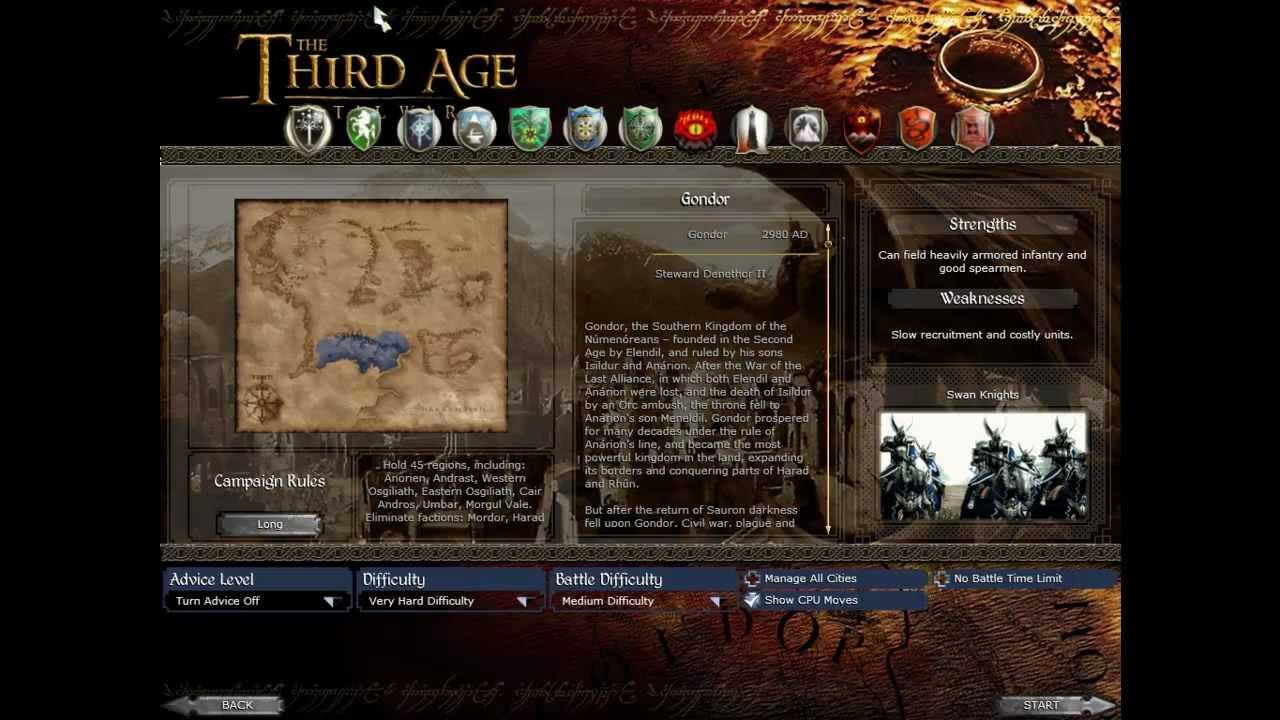 Najlepsze modyfikacje do Medieval II:Total War -Third age / Forum
