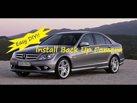 mercedes w204 c class how to install back up reverse. Black Bedroom Furniture Sets. Home Design Ideas