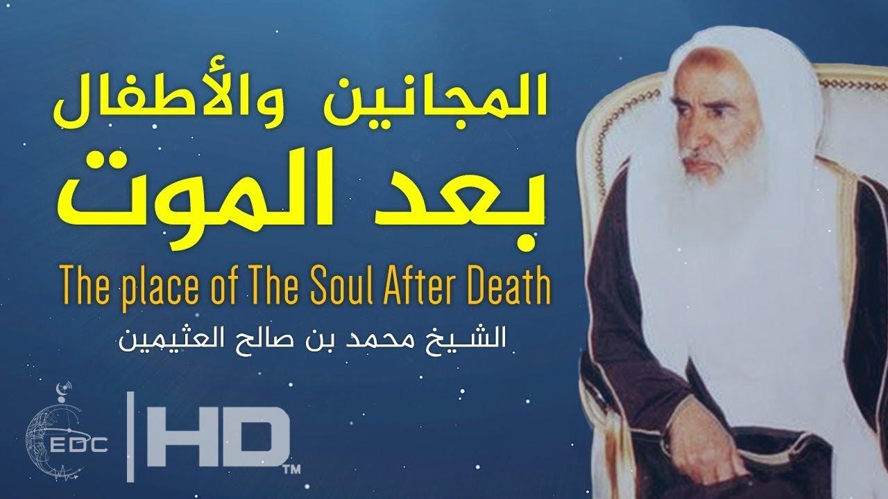 مكان أرواح المؤمنين بعد الموت ومصير المجانين والأطفال    الشيح محمد صالح العثيمين
