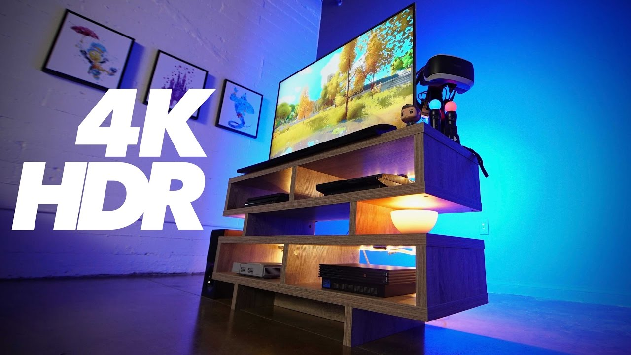 ps4 pro hdr 4k ultimate gaming setup youtube. Black Bedroom Furniture Sets. Home Design Ideas