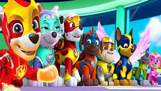 PAW Patrol Mighty Pups Save Adventure Bay - Chase, Marshall Super Heroic Mission Nick Jr HD
