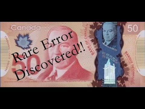 RARE ERROR - Collector Discovers Unique $50 Canada Polymer Note In Cash Register!