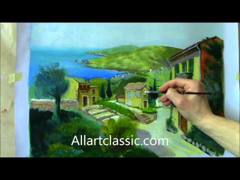 Oil Painting Tutorial - From Pencil Drawing to Painting