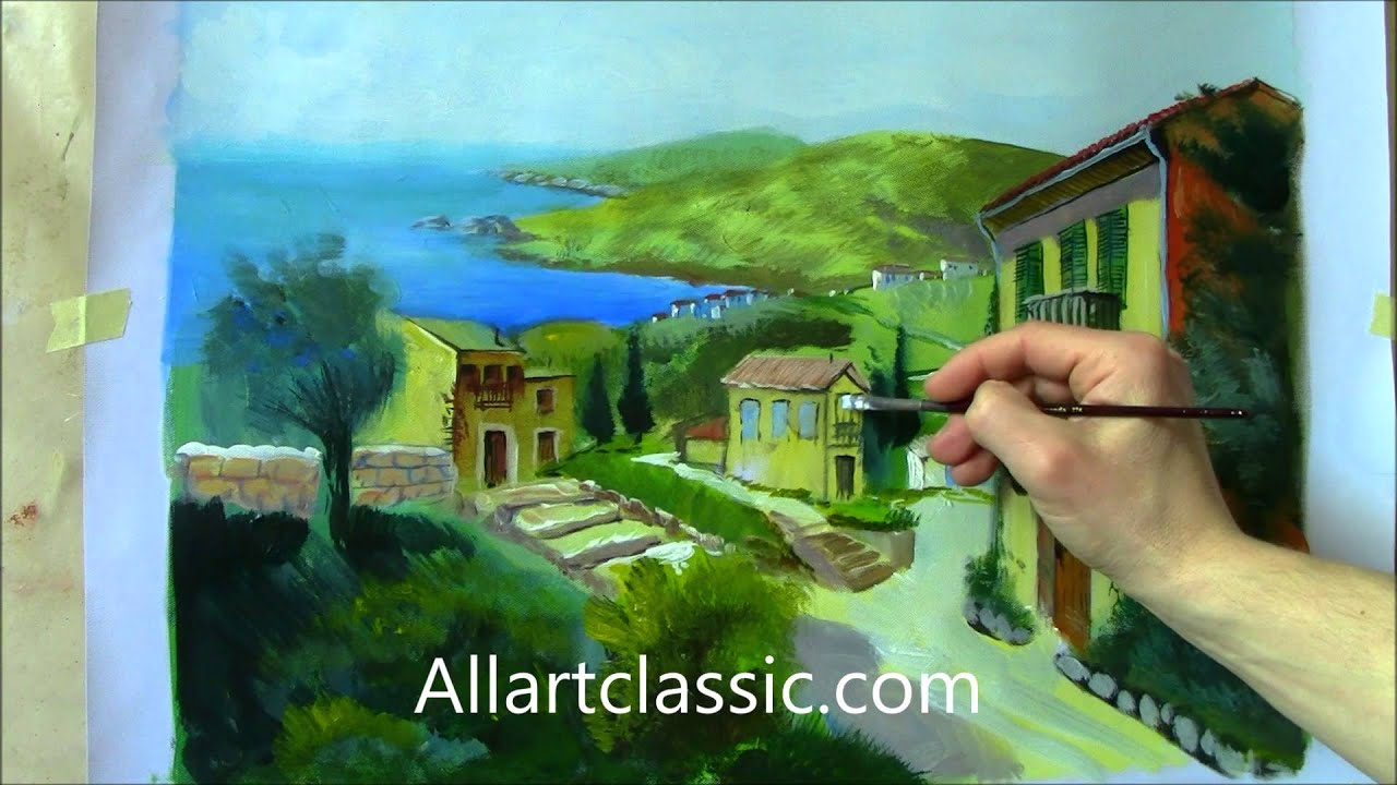 Oil painting tutorial from pencil drawing to painting