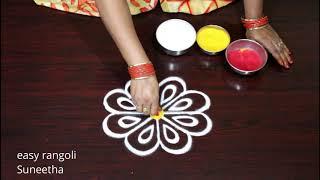 Episode 21...#Easy Rakhi special Rangoli & Kolam designs ||  Muggulu || ముగ్గులు | रंगोली