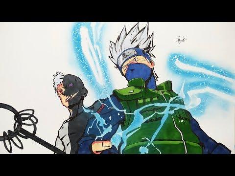 Drawing Kakashi & Obito - Naruto (2K SUBS SPECIAL DRAWING)